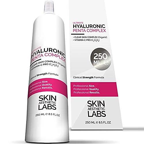 250 ml Hyaluronsäure Serum Konzentrat TESTSIEGER 2021* • 5-fach Hyaluron • Klinik-Größe • Anti Aging Gel mit Vitamin C Pro • Clear Skin Complex • Hypoallergen • Made in Germany